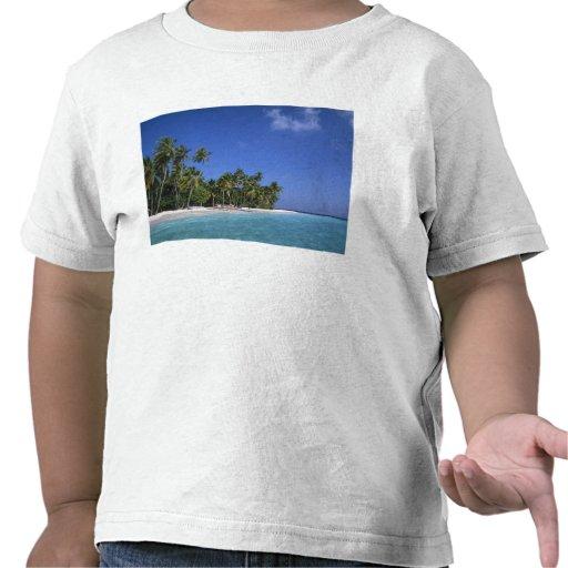 Praia com palmeiras, Maldives Tshirt