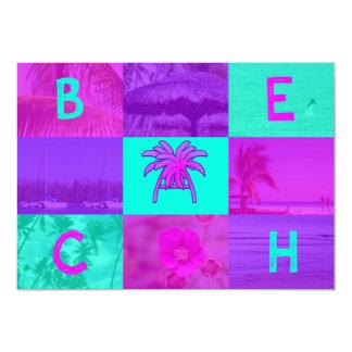 Praia Convite Personalizado