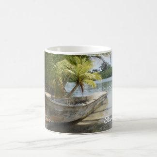 Praia da estrela do mar - caneca tropical da praia