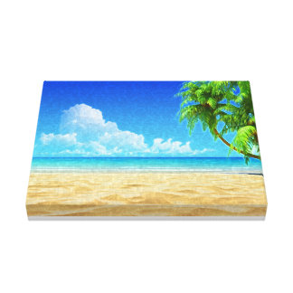Praia das caraíbas canvas pintadas