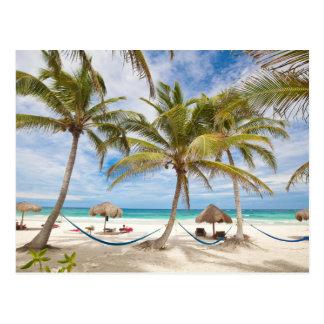 Praia das férias cartão postal