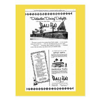 Praia de Bali Hai Pontchartrain Cartão Postal