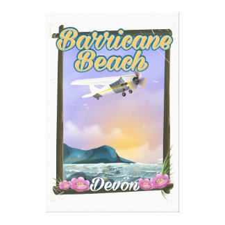 Praia de Barricane, poster das férias de Devon