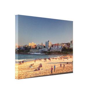 Praia de Bondi do fim da tarde Impressão Em Tela