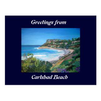 Praia de Carlsbad - cartão