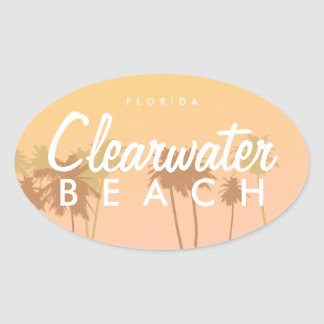 Praia de Clearwater Adesivo Oval