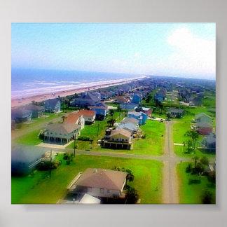Praia de cristal Texas Poster