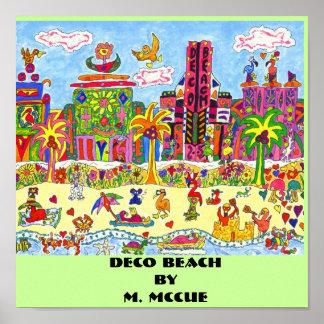 Praia de Deco Poster