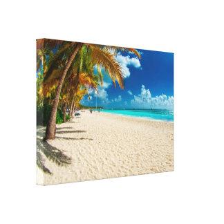 Praia de Domenicana Impressão Em Canvas