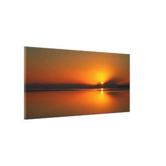 Praia de Dundowran, impressão das canvas do nascer