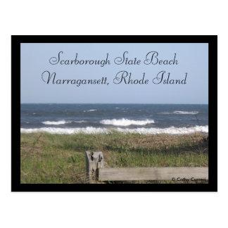 Praia de estado de Scarborough, Rhode - cartão da