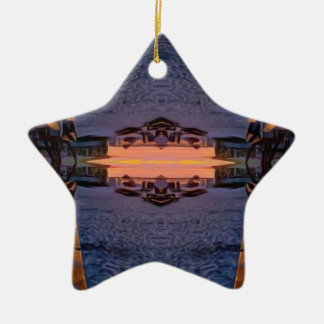 Praia de Fort Myers psicadélico Ornamento De Cerâmica