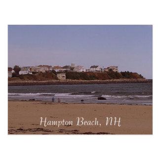 Praia de Hampton, NH Cartão Postal