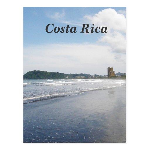 Praia de Jaco em Costa Rica Cartões Postais
