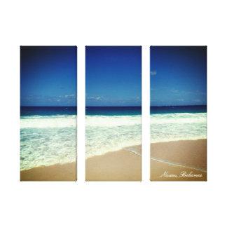 Praia de Nassau Impressão Em Canvas