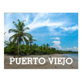 Praia de Puerto Viejo Cartão Postal