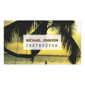 Praia de relaxamento customizável Scence Cartão De Visita