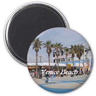Praia de Veneza, Califórnia Ímã Redondo 5.08cm