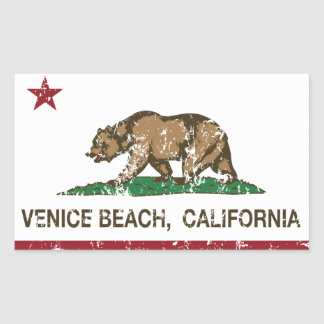 Praia de Veneza da bandeira da república de Adesivo Retangular