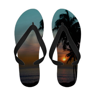 Praia do hawaiian do por do sol de PixDezines Chinelos
