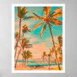 Praia do hawaiian do vintage de PixDezines