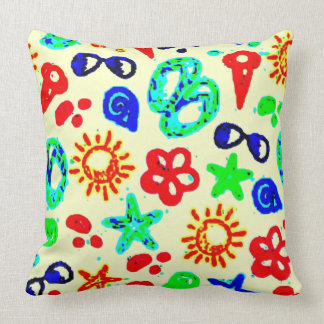 Praia do verão travesseiro de decoração