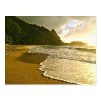 Praia dos túneis, cartão de Kauai