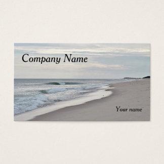 Praia e ondas do oceano cartão de visitas