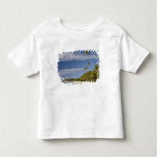 Praia e palmeiras, resort da ilha da plantação tshirts