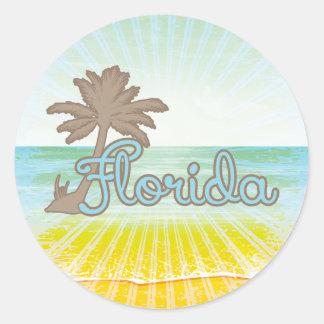 Praia ensolarada Florida Adesivo