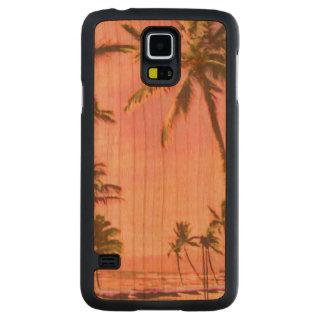 Praia havaiana/rosa do vintage de PixDezines Case Slim De Cerejeira Para Galaxy S5