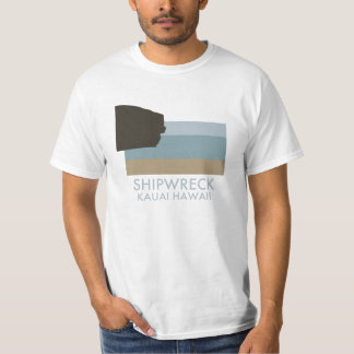 Praia Kauai Havaí do Shipwreck Tshirts