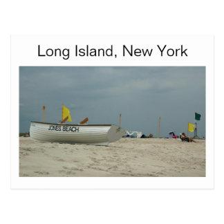 Praia Long Island de Jones, cartão de New York