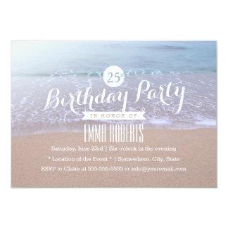 Praia na festa de aniversário da manhã convite 12.7 x 17.78cm