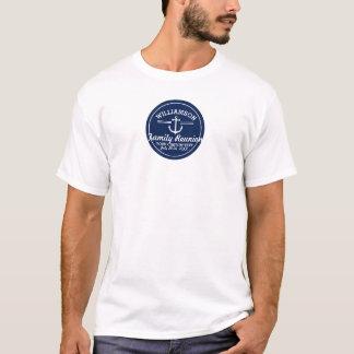 Praia náutica do cruzeiro da viagem da reunião de camiseta