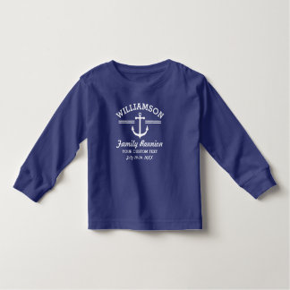 Praia náutica do cruzeiro da viagem da reunião de camiseta infantil