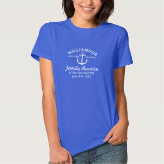 Praia náutica do cruzeiro da viagem da reunião de tshirts