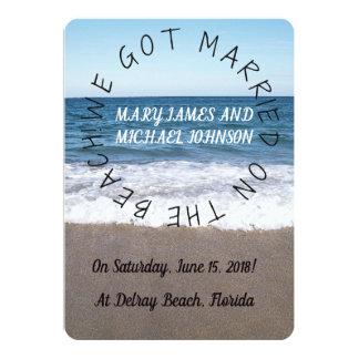 Praia no anúncio do casamento do oceano