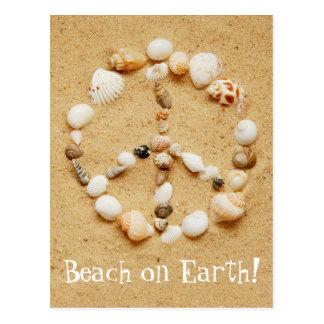 Praia no cartão da terra