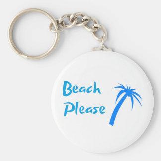 """Praia por favor 2,25"""" chaveiro básico do botão"""