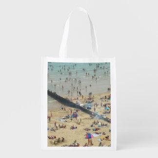 Praia Reino Unido de Bornemouth Sacola Reusável