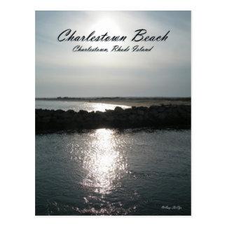Praia Rhode de Charlestown - cartão da ilha