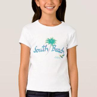 Praia sul, chinelos de Miami, Florida Camisetas