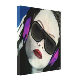 """""""Praia sul DJ!"""" em uma cópia das canvas Impressão De Canvas Envolvida"""