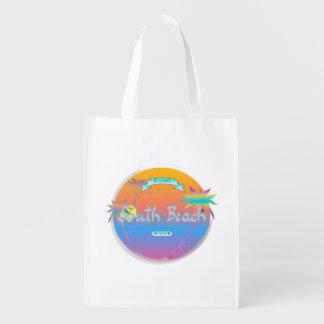 Praia sul, Florida com palmas Sacola Ecológica