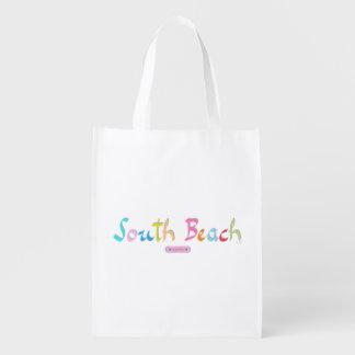 Praia sul, Florida est. 1870 Sacolas Ecológicas Para Supermercado