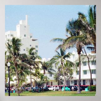 Praia sul movimentação de Miami, oceano Poster
