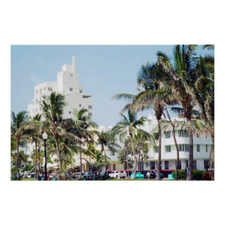 Praia sul poster da movimentação de Miami, oceano