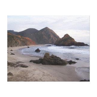 Praia Sur grande de Pfeiffer, CA Impressão De Canvas Esticadas