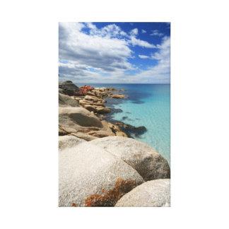 Praia tropical - canvas impressão em tela